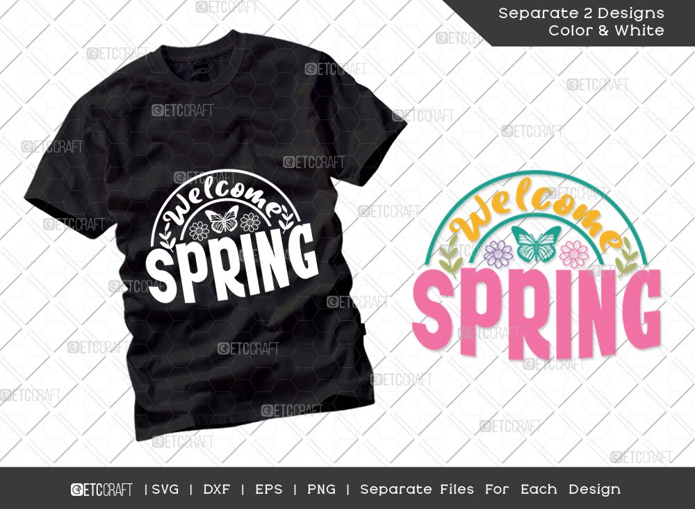 Welcome Spring SVG Cut File | Hello Spring Svg