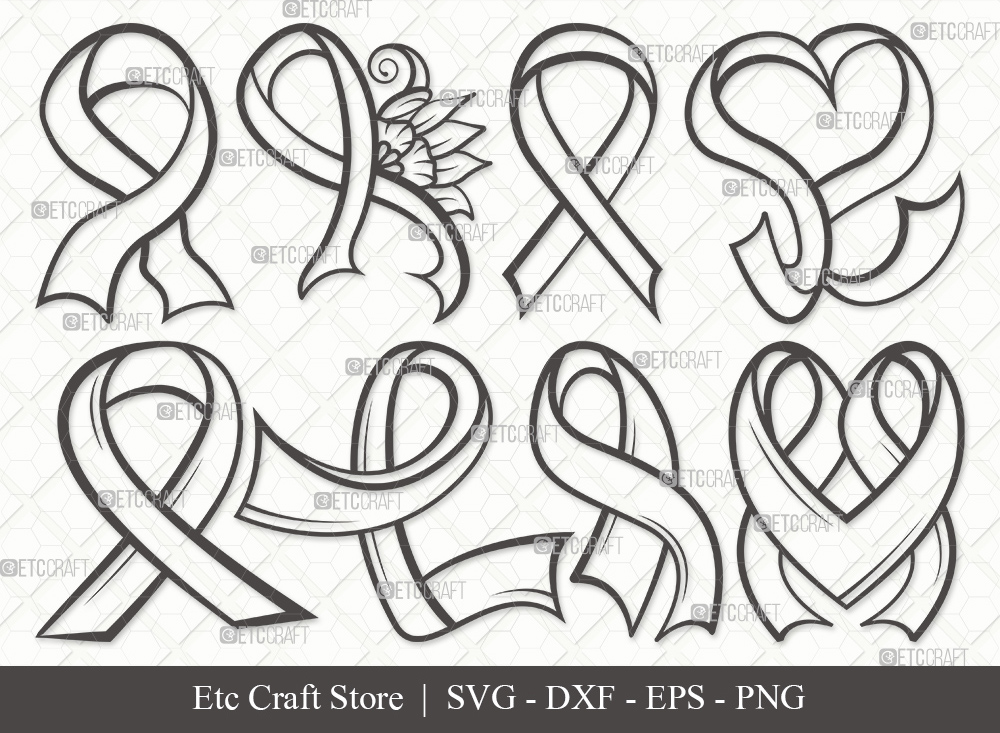 Awareness Ribbon Outline SVG | Ribbon SVG