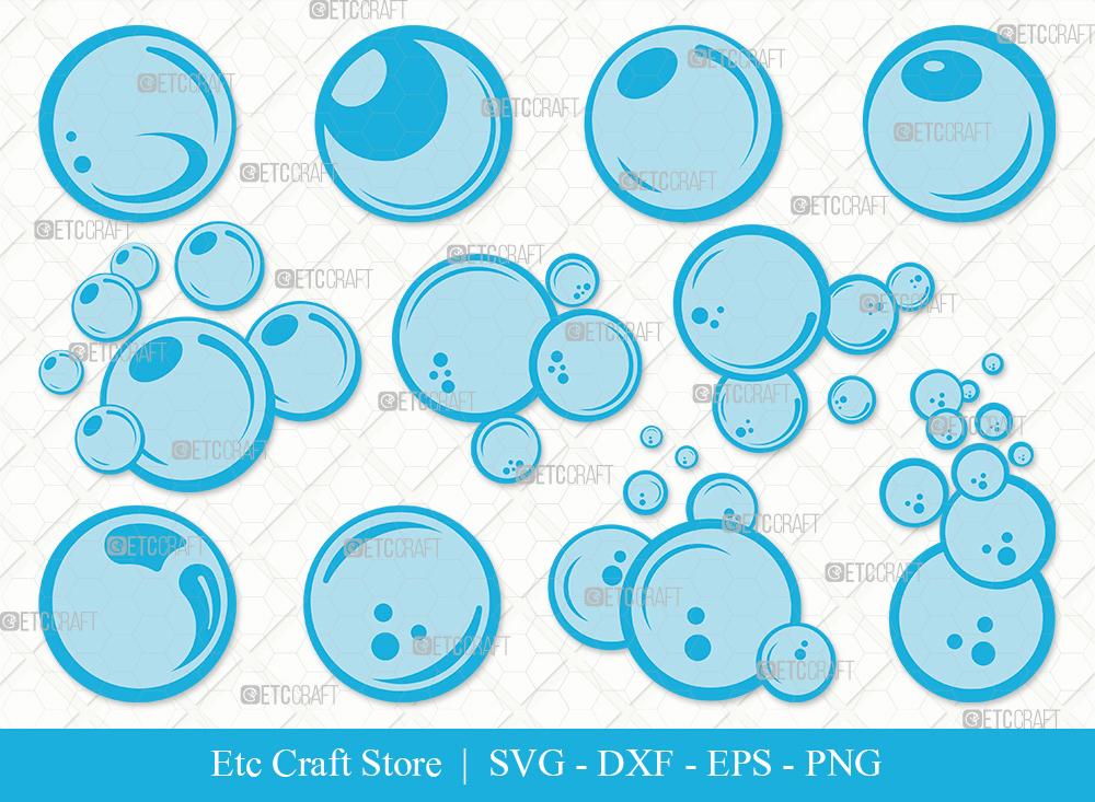 Bubbles Clipart SVG | Water Bubbles SVG Bundle
