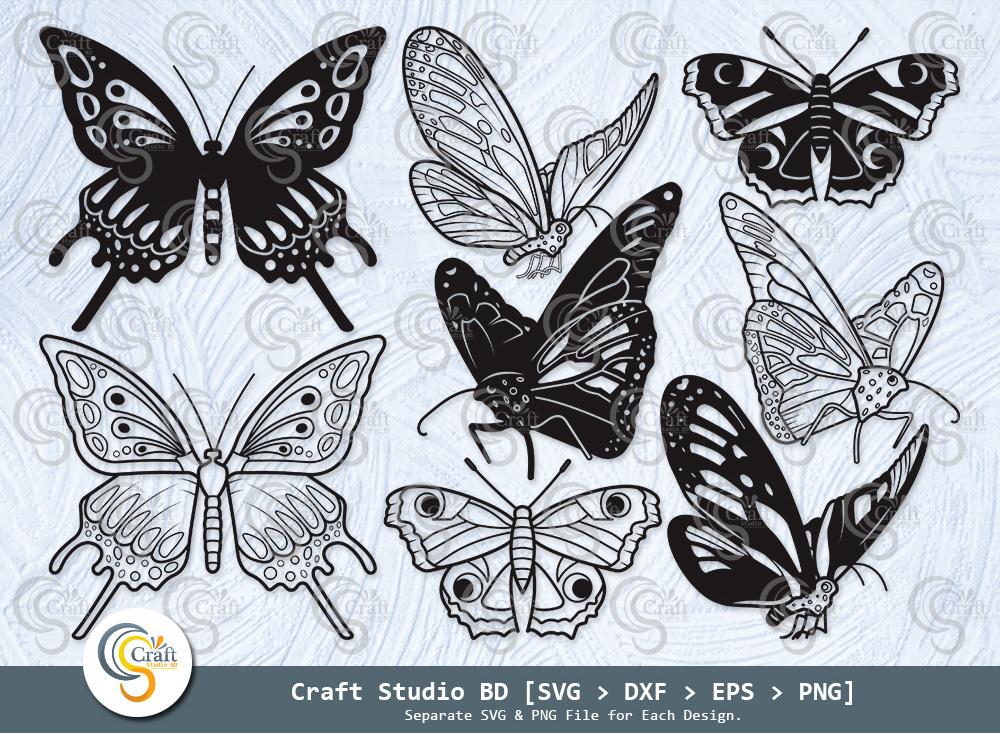 Butterfly Silhouette, Butterfly SVG Bundle