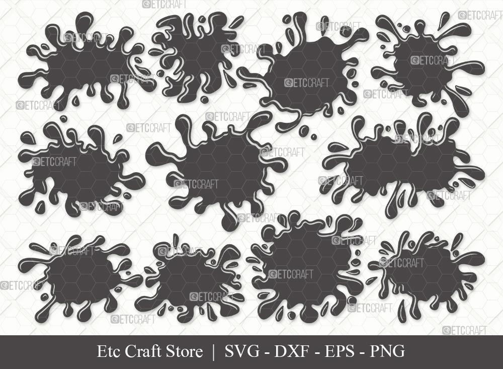 Ink Splatter Silhouette SVG | Blood Splatter Svg