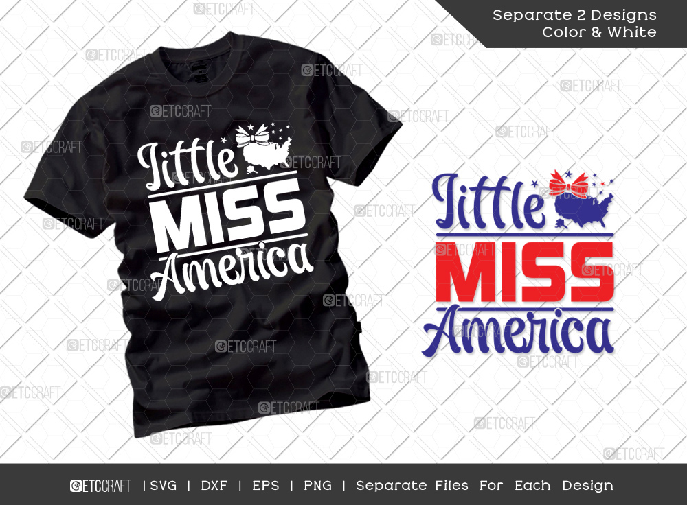 Little Miss America SVG Cut File | American Svg
