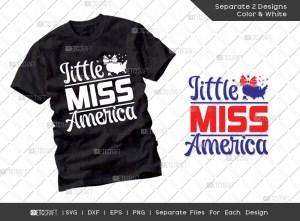 Little Miss America SVG Cut File | American Svg