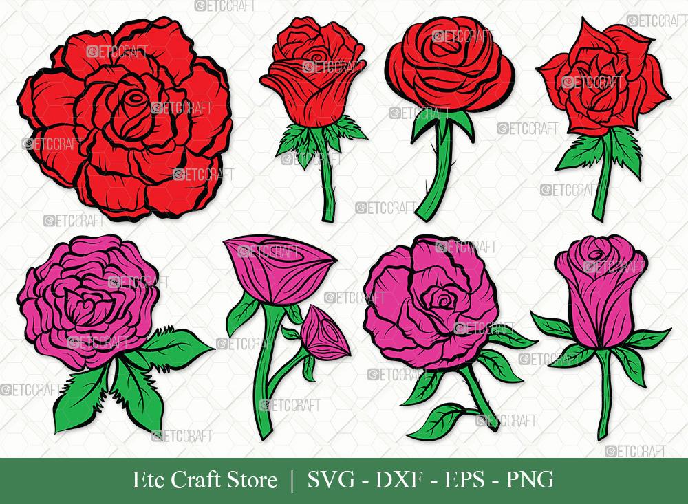 Rose Flower Clipart SVG   Rose Flower SVG