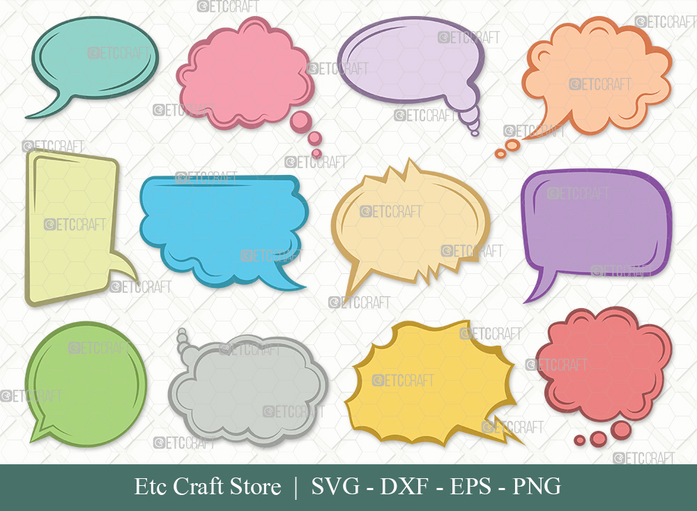 Speech Bubbles Clipart SVG | Talk Bubble Svg