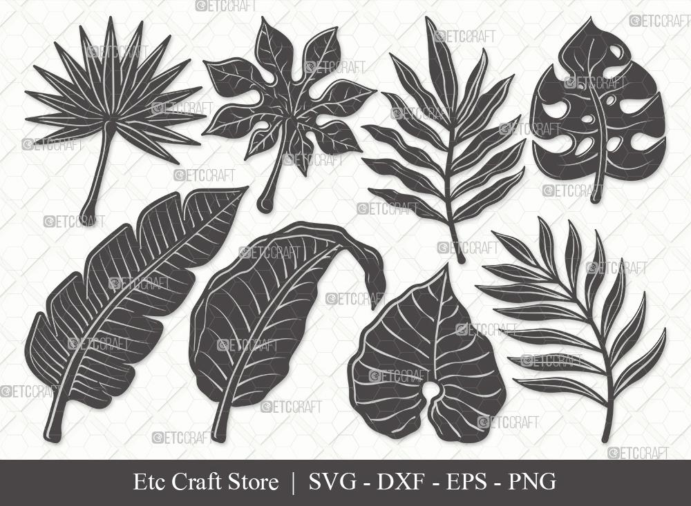 Tropical Leaf Silhouette | Monstera Leaf SVG