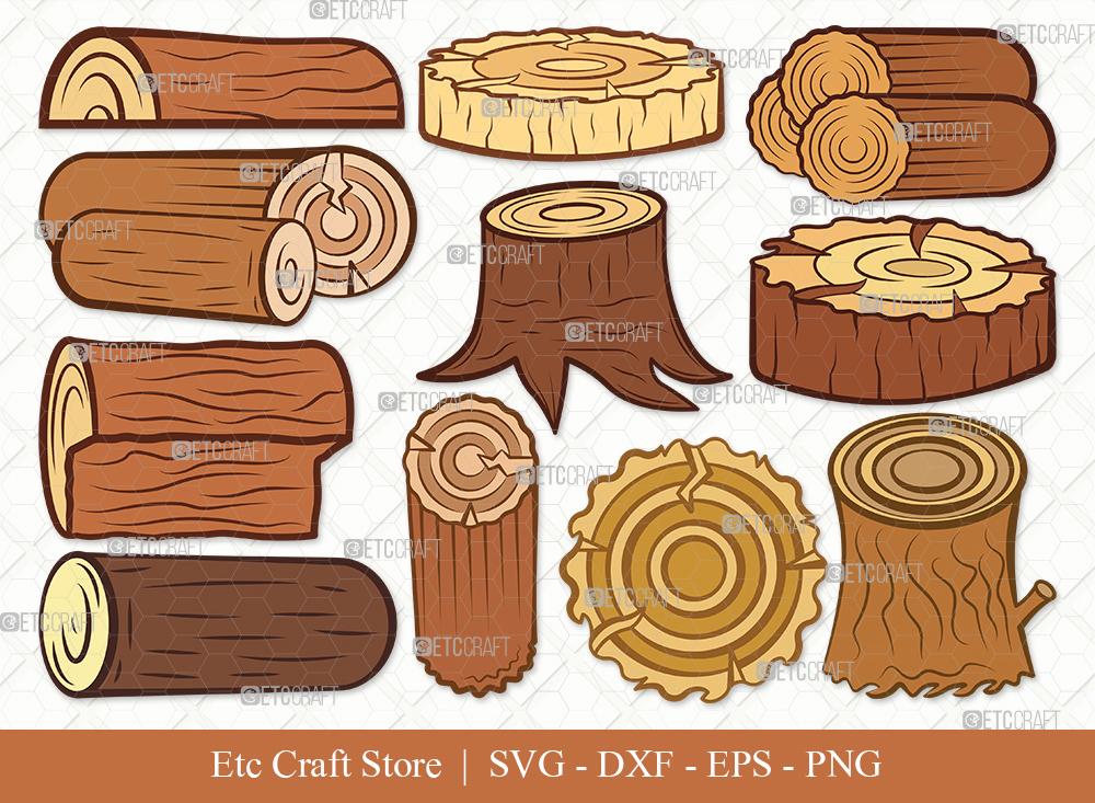 Wood Log Clipart SVG | Wood Svg | Tree log Svg