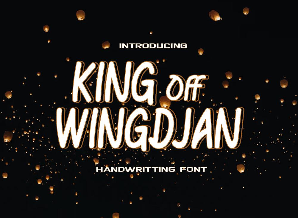 KING Off WINGDJAN Font, Handwritten Font