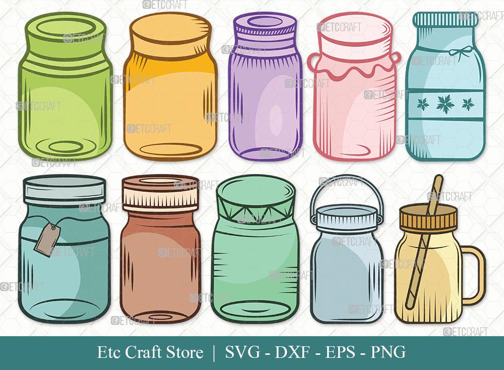 Mason Jars Clipart | Mason Jar SVG Bundle