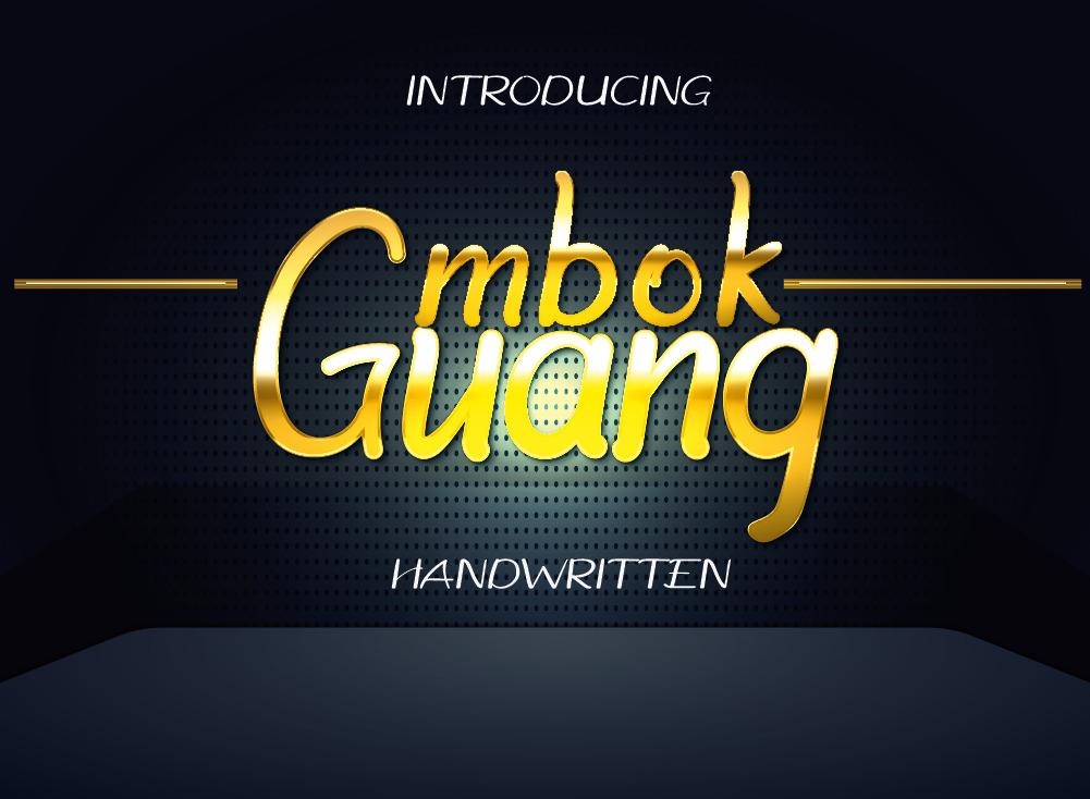 Mbok Guang Font, Beautiful Handwritten Font
