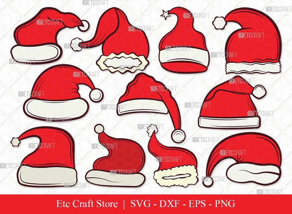 Santa Hat Clipart SVG   Christmas Hat Svg