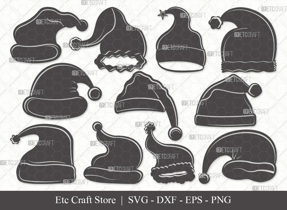 Santa Hat Silhouette SVG   Christmas Hat Svg