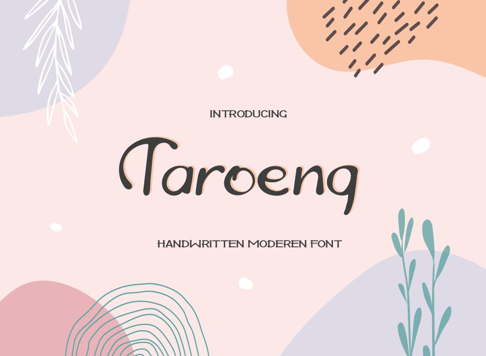 Taroeng Font, Beautiful Handwritten Font