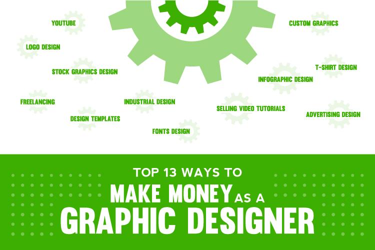 Top 13 Ways to Make Money As a Graphic Designer
