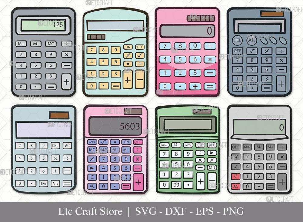 Calculator Clipart | Calculator SVG Bundle
