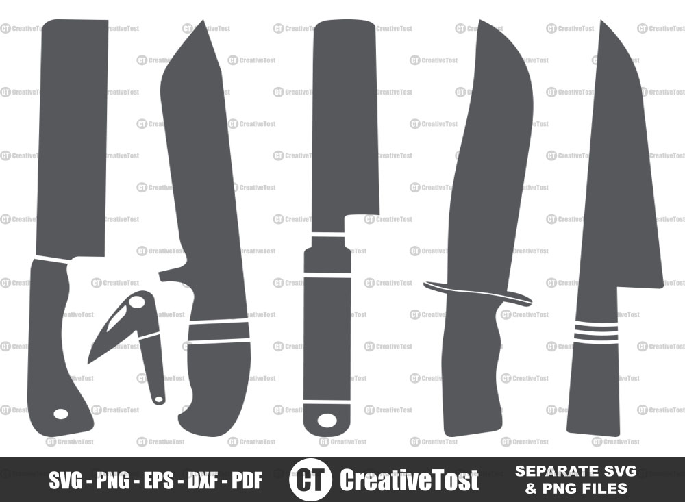Knives SVG, Knives Silhouette, Knives Clipart