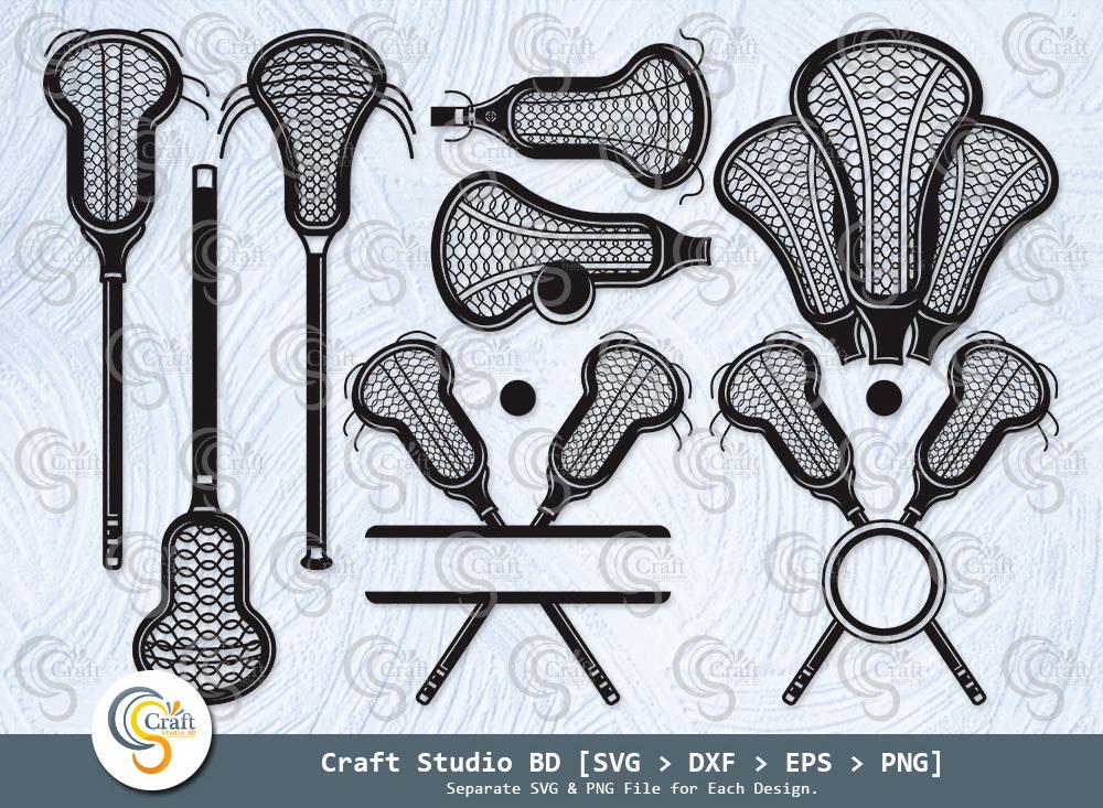 Lacrosse Stick Silhouette, Lacrosse SVG Bundle