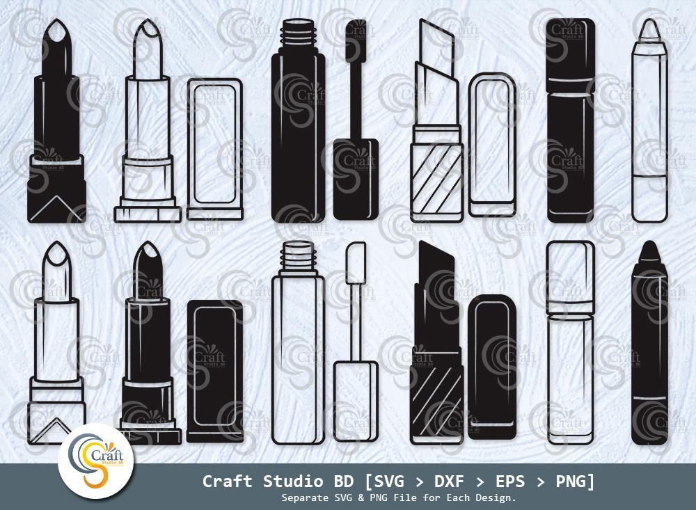 Lipstick Silhouette, Makeup, Lipstick SVG Bundle