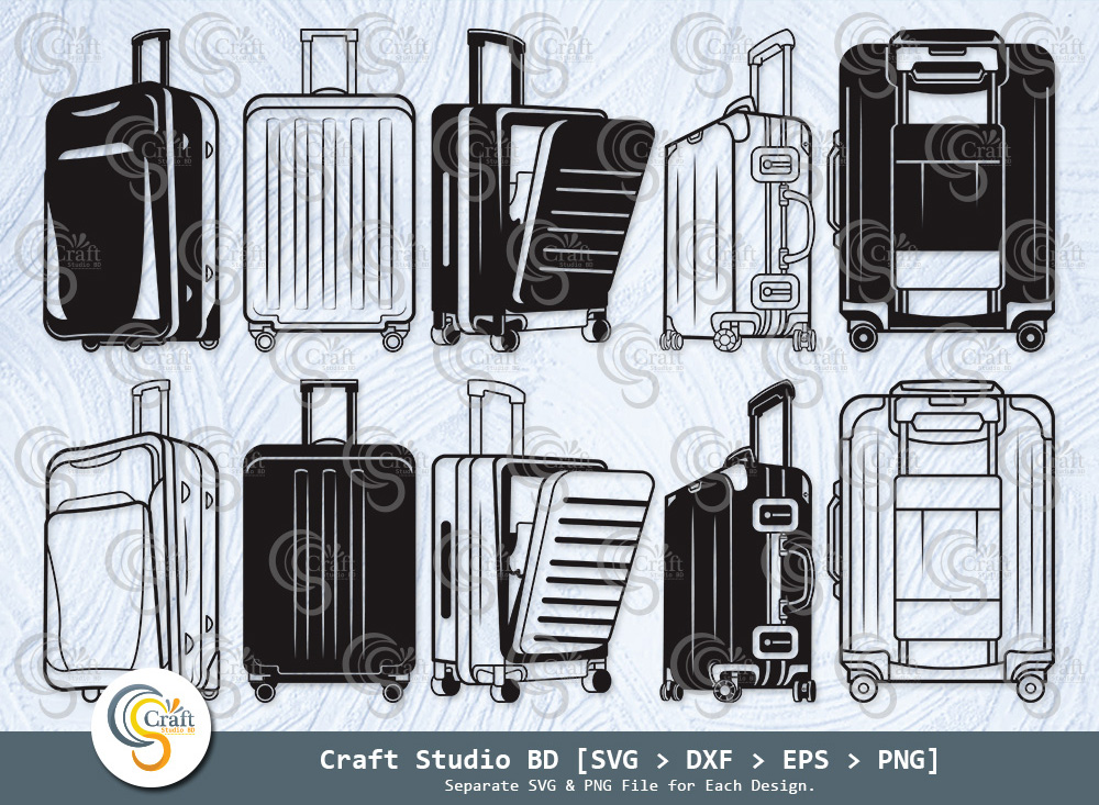 Luggage Silhouette, Suitcase SVG, Luggage SVG