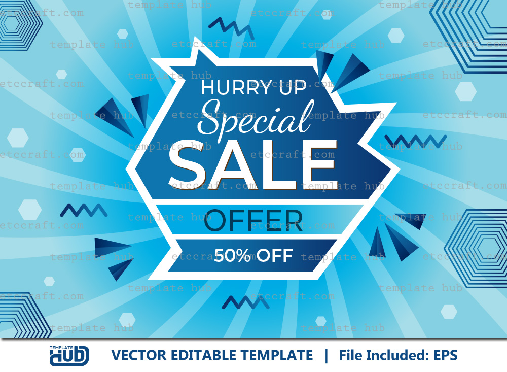 Hurry Up Special Sale Offer Background