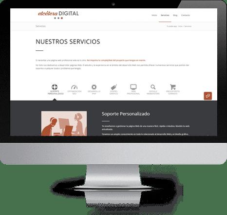 Diseño gráfico y creación de Páginas web en iMac