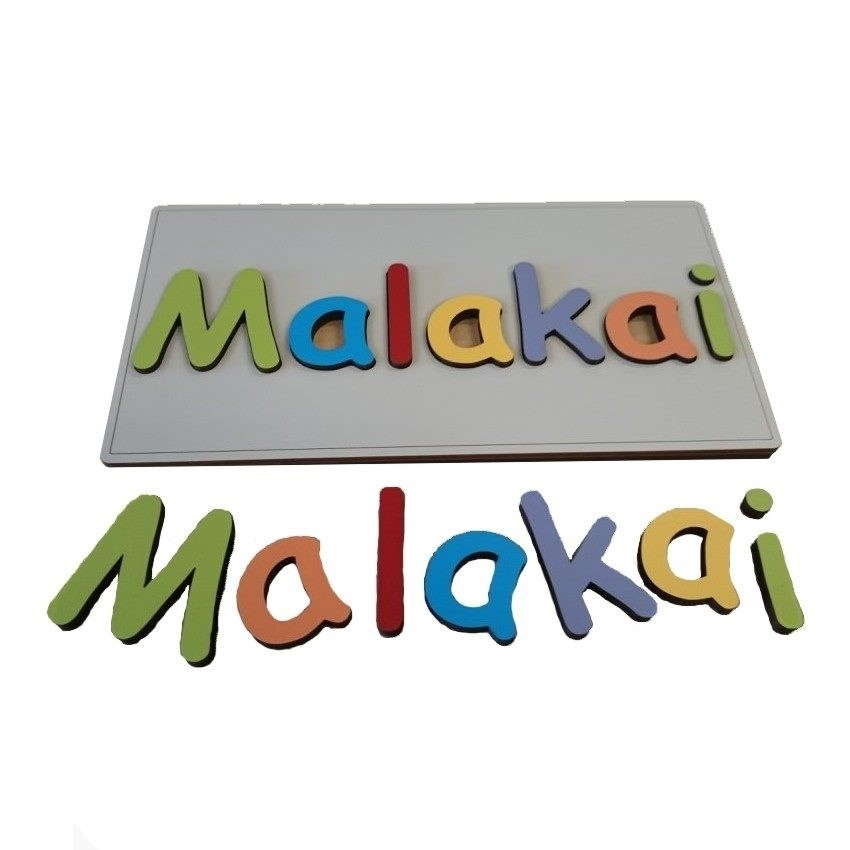 wooden puzzle personalised name