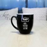 Personalized Bistro Coffee Mug Dad Est Etchey