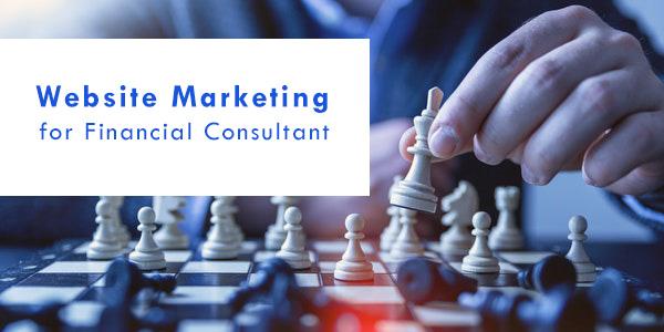 financial website marketing