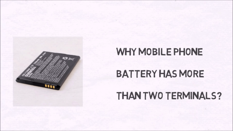 Why a Mobile Phone Battery has more then two terminals?