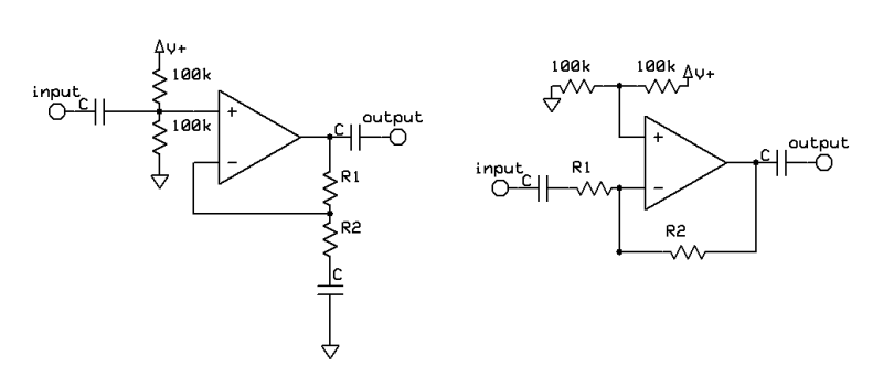 Opamp single supply operation