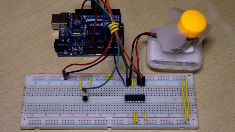 Temperature controlled fan using Arduino