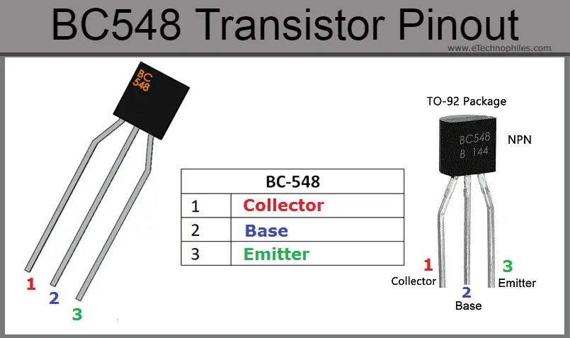BC548 Transistor pinout