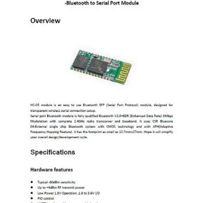 HC-05 datasheet download