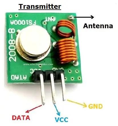 433 MHz transmitter module pinout