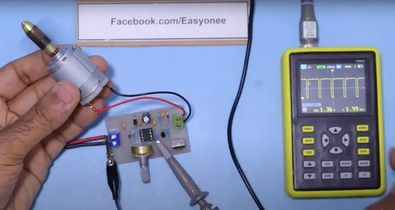 DC motor speed controller circuit