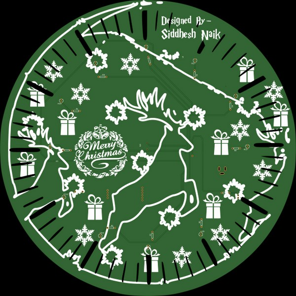 Christmas Clock PCB board
