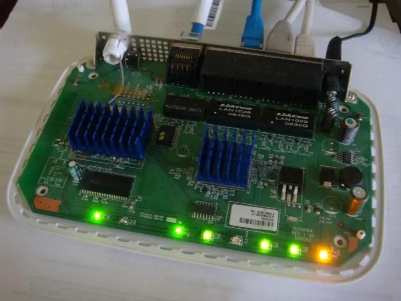 LED PCB inside WiFi Router