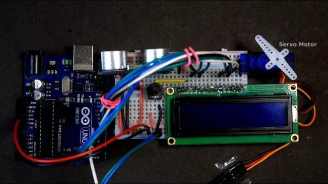Servo Motor angle control using Ultrasonic sensor