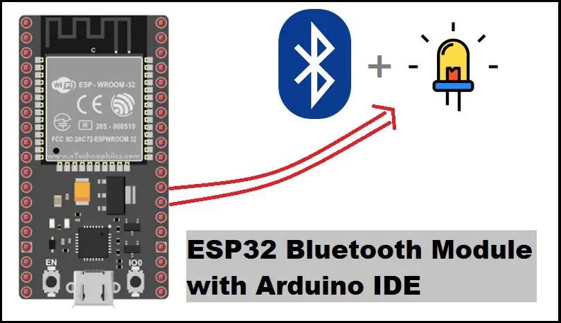 ESP32 bluetooth module with Arduino IDE