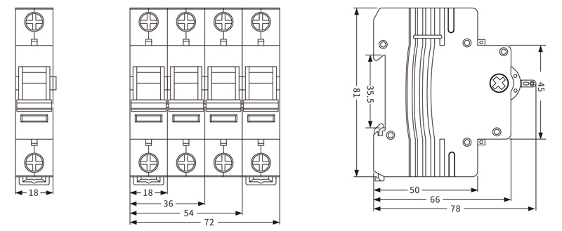 EKD1-125 Isolation Switch, isolator switch wiring diagram