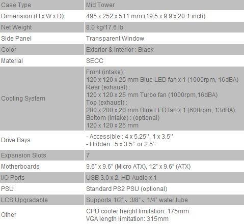 thermaltake a41 spec