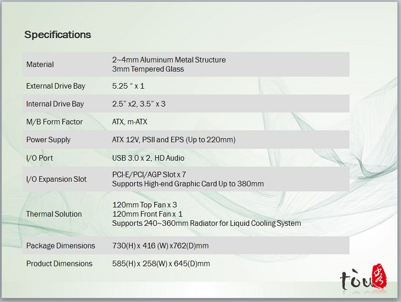 tou specification