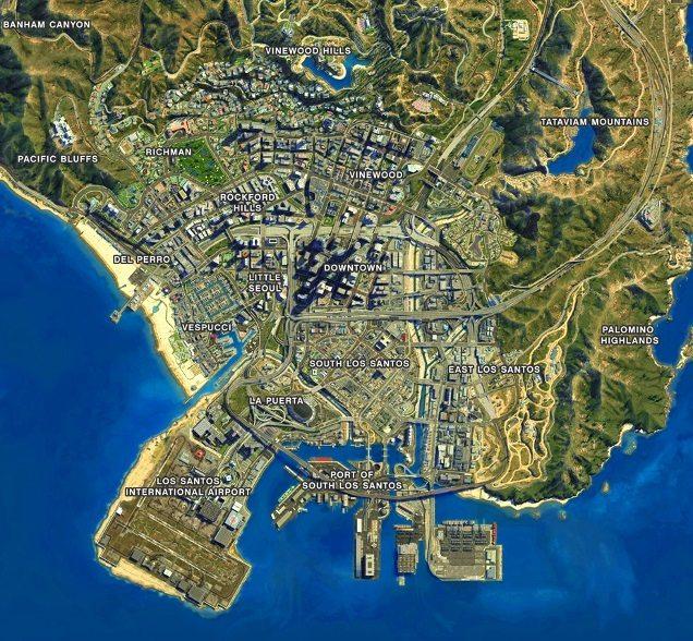 los santos map