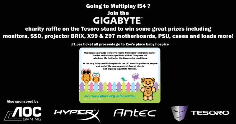 Charity raffle for Zoe's place