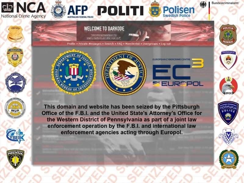 darkodeseized by interpol and fbi