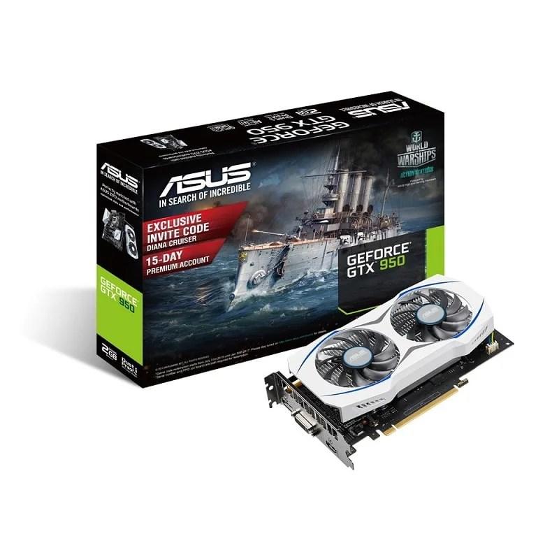 ASUS 75W GeForce Nvidia GTX 950