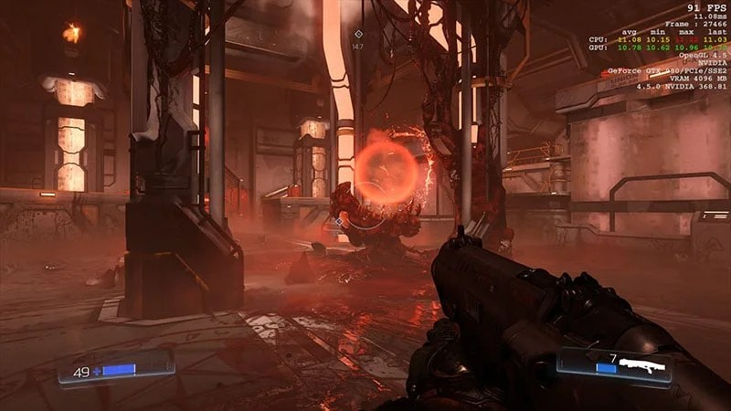 Doom OpenGL VS Vulkan Graphics Performance Analysis