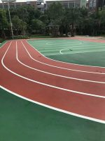 Athletic tartan track construction and installation