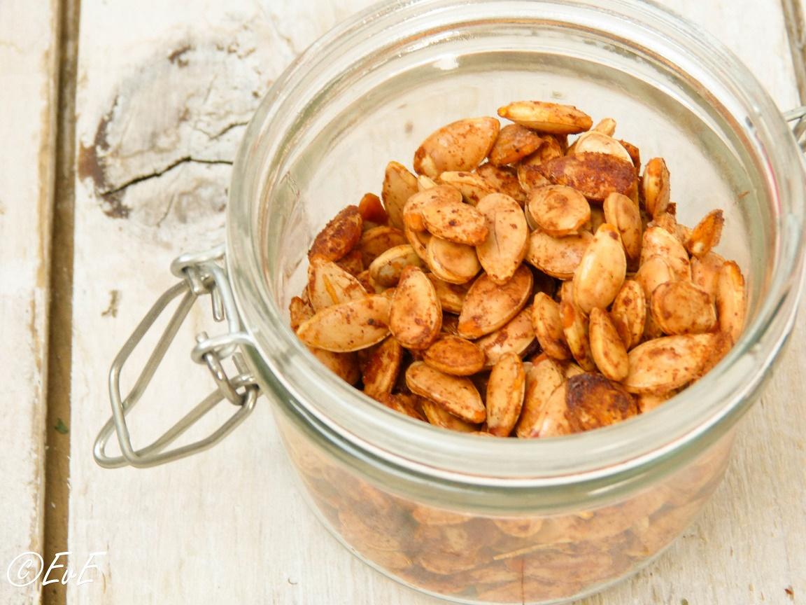 recept pompoenpitten roosteren