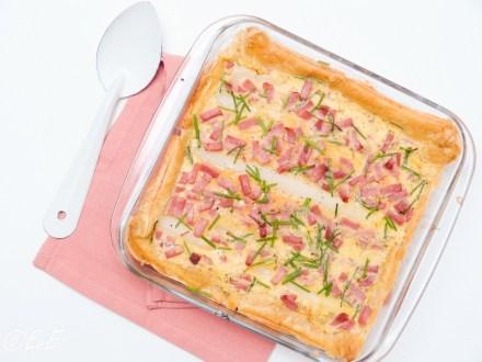 quiche met asperges en ham